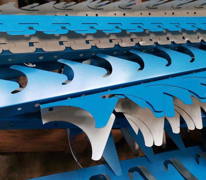 профилегибочное оборудование для профиля каркасной конструкцией